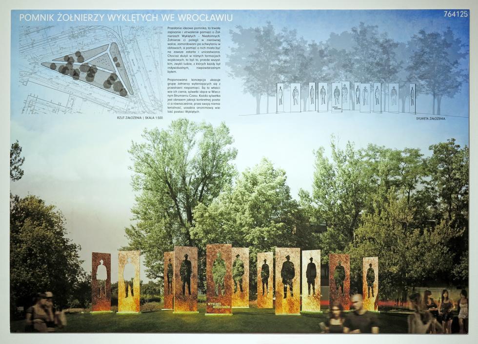 Rozstrzygnięto Ietap konkursu na projekt pomnika Żołnierzy Wyklętych weWrocławiu