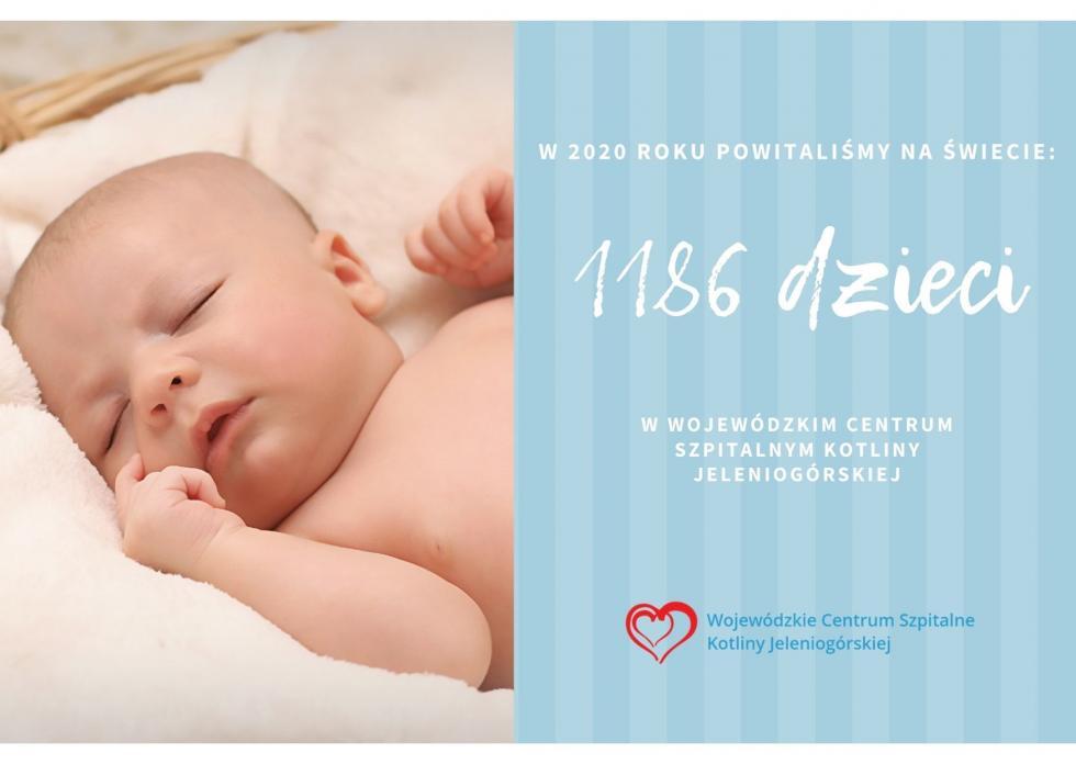 1186 dzieci przyszło na świat  w2020 roku! Jakie były najpopularniejsze imiona?