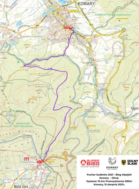 Bieg alpejski Kowary – Okraj już 15 sierpnia